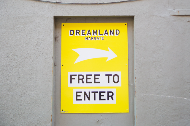 The colourful and cheeky branding you'll see at Dreamland Margate