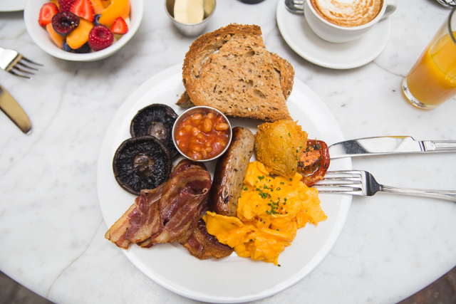 Breakfast at The Hoxton Grill is a must