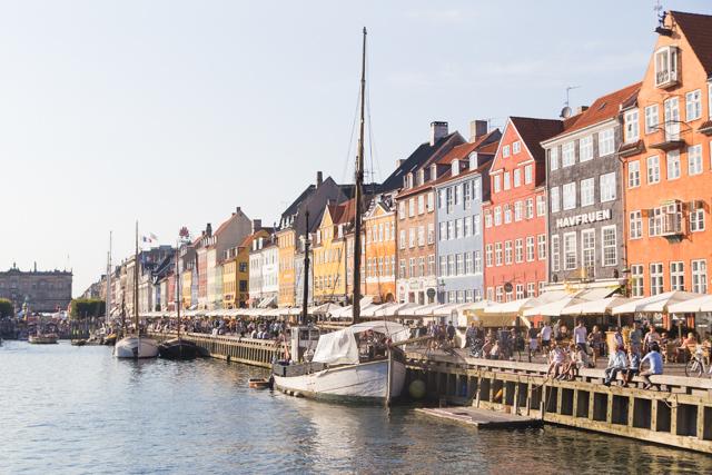 Colourful houses in Nyhavn Copenhagen