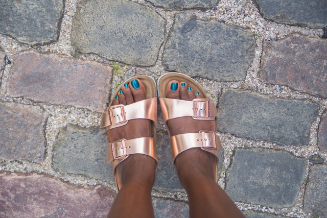 My rose gold Birkenstock sandals