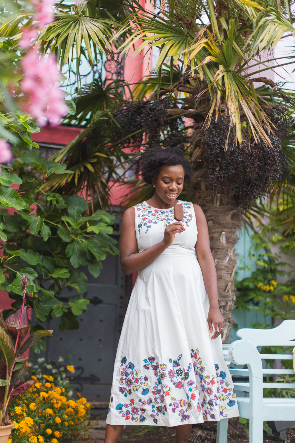 Boden ICONS Joan dress - Excited for Wimbledon? I'm sharing the perfect dessert by Haagen Dazs, to help get you in the mood for all that tennis.