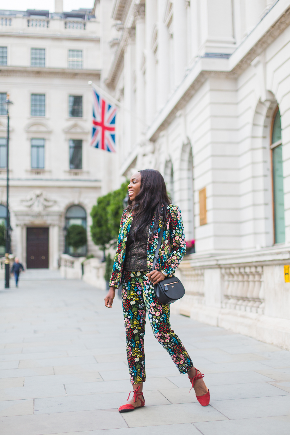 Meet the suit of AW17, the Boden forest print Velvet Emilia Blazer & Trousers