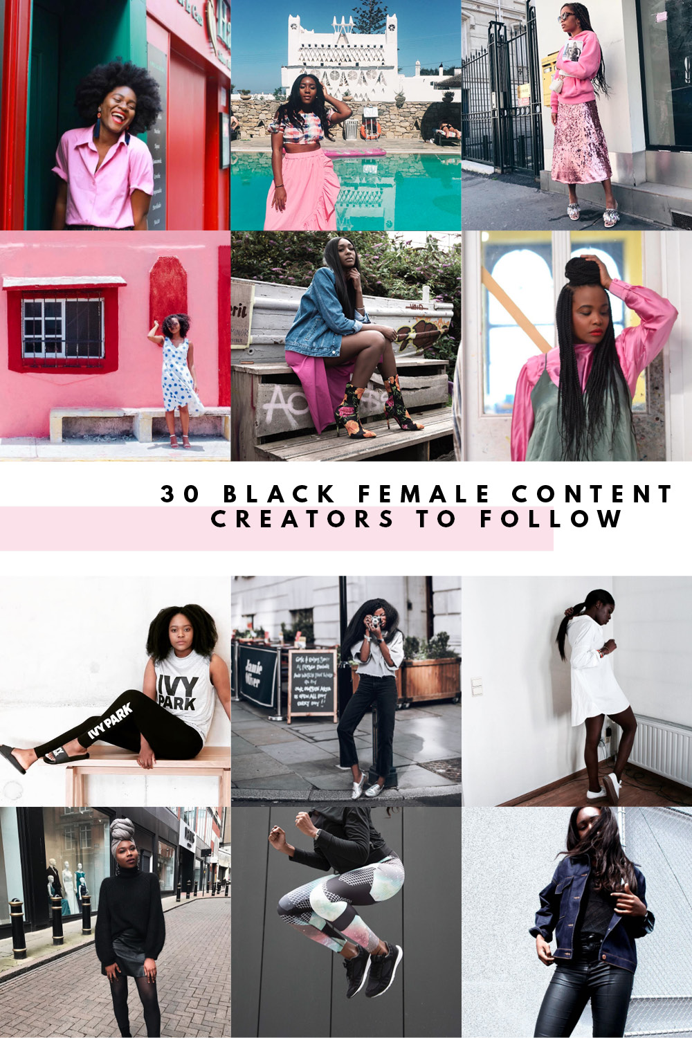 here are 30 black female content creators that you need to